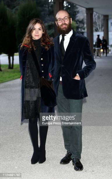 Tristan Ramirez and Cosima Ramirez attend the Elio Berhanyer Funeral Chapel at Museo del Traje on January 24 2019 in Madrid Spain