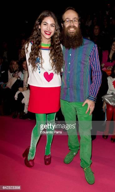 Tristan Ramirez and Cosima Ramirez attend the front row of Agatha Ruiz de la Prada show during Mercedes Benz Fashion Week Madrid Autumn / Winter 2017...