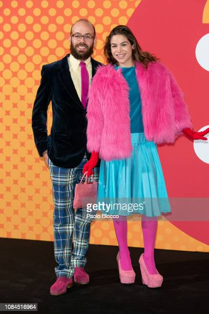 Tristan Ramirez and Cosima Ramirez attend the National Fashion awards at Museo del Traje on December 19 2018 in Madrid Spain