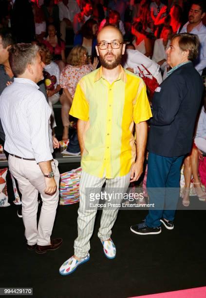 Tristan Ramirez attends Agatha Ruiz de la Prada show at Mercedes Benz Fashion Week Madrid Spring/ Summer 2019 on July 8 2018 in Madrid Spain on July...
