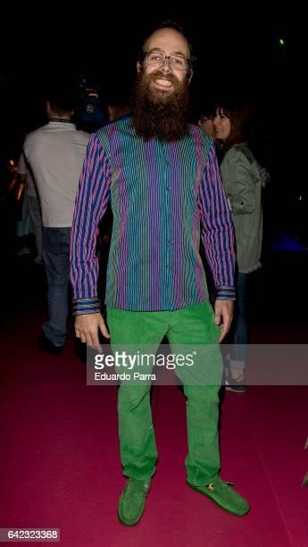 Tristan Ramirez attends the front row of Agatha Ruiz de la Prada show during Mercedes Benz Fashion Week Madrid Autumn / Winter 2017 at Ifema on...