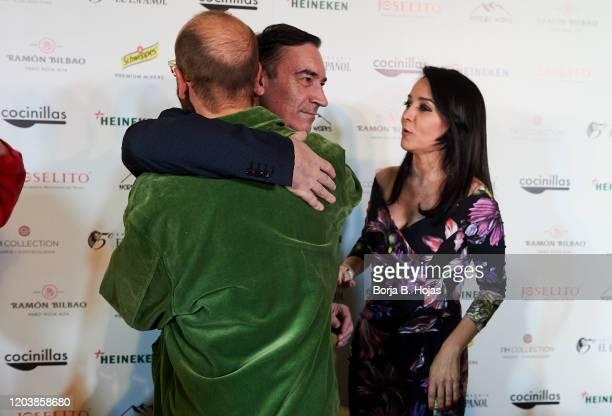 Tristan Ramirez Pedro J Ramirez and Cruz Sánchez de Lara Sorzano attends Cocinillas awards on February 03 2020 in Madrid Spain