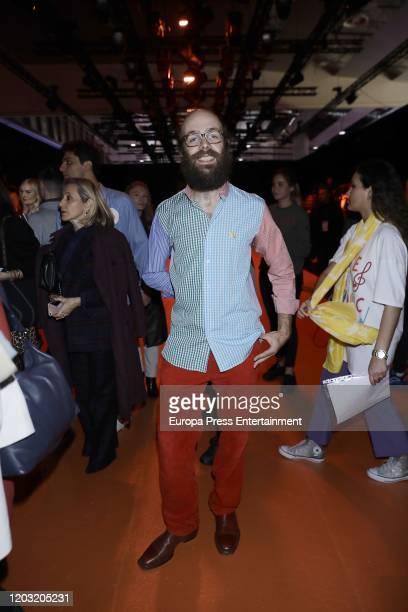 Tristan Ramirez Ruiz attends Agatha Ruiz de la Prada fashion show during the Merecedes Benz Fashion Week Autum/Winter 202021 at Ifema on January 29...
