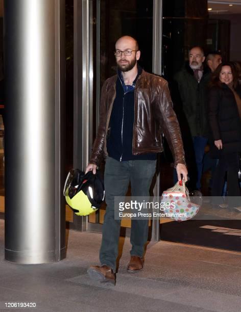 Tristan Ramirez Ruiz attends Cristina de Borbon's funeral chapel on February 14 2020 in Madrid Spain