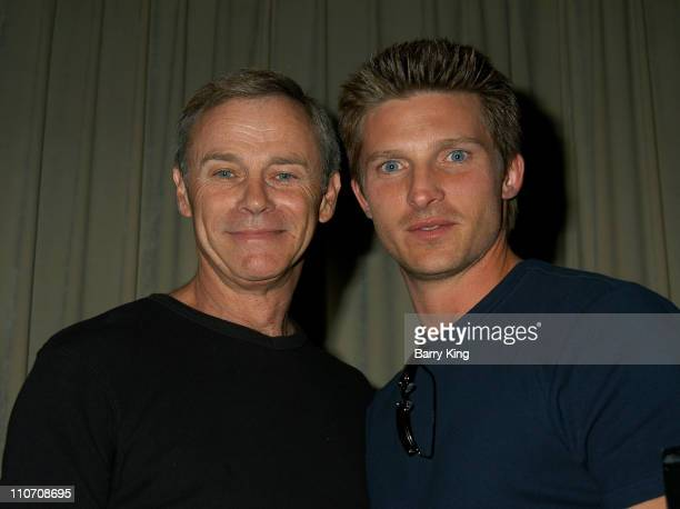 Tristan Rogers Steve Burton during ABC's 'General Hospital' Fan Day Event at Sportsmen's Lodge in Studio City California United States