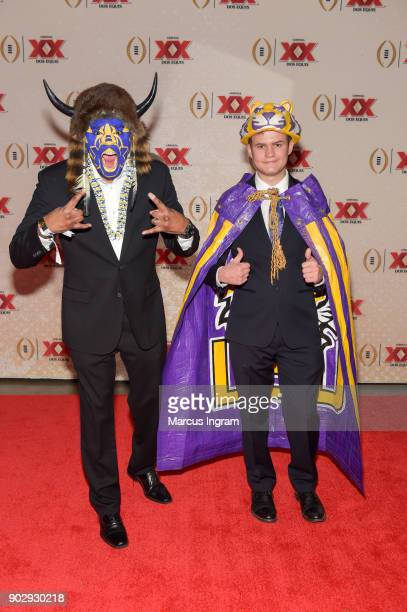 Tristan Still and Christian Christoffersen attend 'Matt Leinart and Rob Riggle Unveil Dos Equis' Most Interesting Fan of College Football' at College...