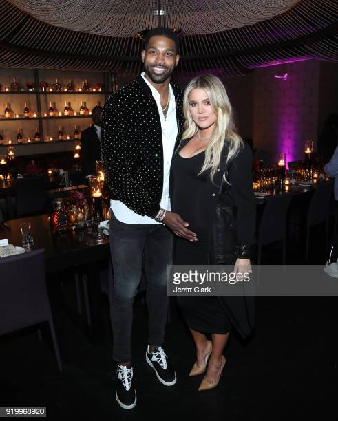 Tristan Thompson and Khloe Kardashian attend the Klutch Sports Group 'More Than A Game' Dinner Presented by Remy Martin at Beauty Essex on February...