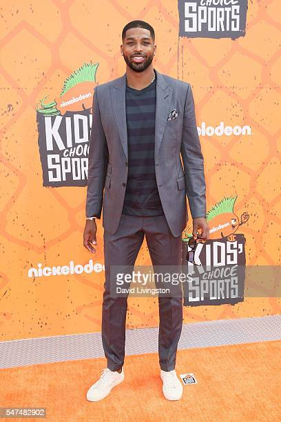 Tristan Thompson arrives at the Nickelodeon Kids' Choice Sports Awards 2016 at the UCLA's Pauley Pavilion on July 14 2016 in Westwood California