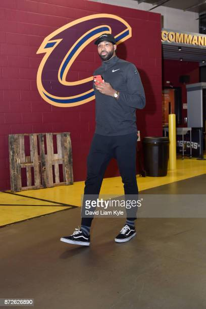 Tristan Thompson of the Cleveland Cavaliers arrives at the arena before the game against the Milwaukee Bucks on Novmber 7 2017 at Quicken Loans Arena...