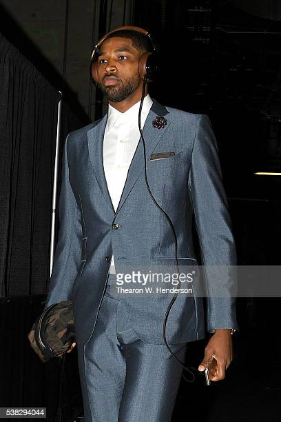 Tristan Thompson of the Cleveland Cavaliers arrives before Game 2 of the 2016 NBA Finals against the Golden State Warriors at ORACLE Arena on June 5...