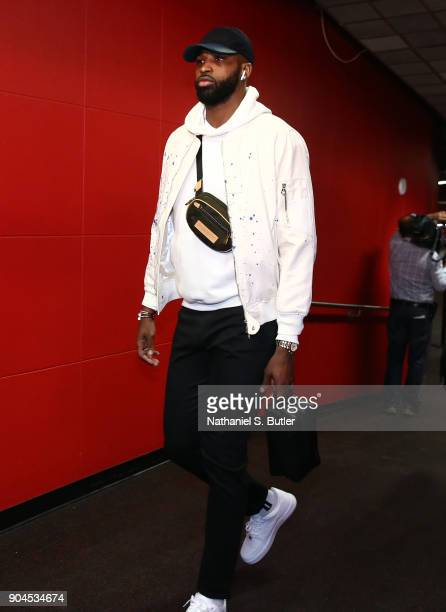 Tristan Thompson of the Cleveland Cavaliers arrives before game against the Toronto Raptors on January 11 2018 at the Air Canada Centre in Toronto...