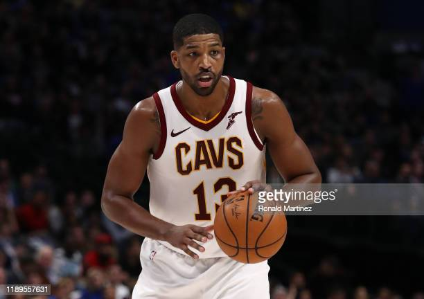 Tristan Thompson of the Cleveland Cavaliers at American Airlines Center on November 22, 2019 in Dallas, Texas. NOTE TO USER: User expressly...