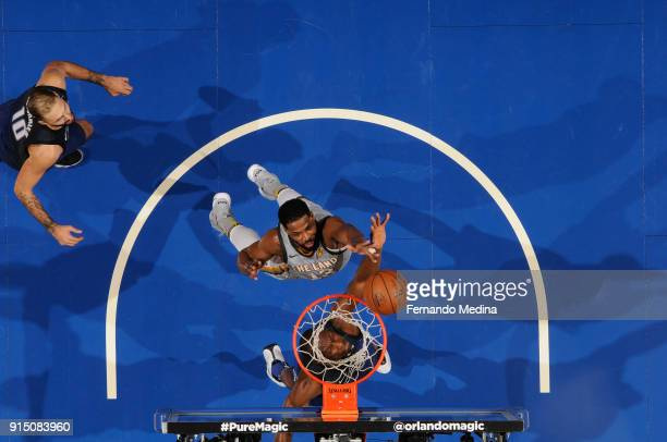 Tristan Thompson of the Cleveland Cavaliers shoots the ball against the Orlando Magic on February 6 2018 at Amway Center in Orlando Florida NOTE TO...