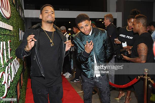 Tristan Wilds and Diggy Simmons attends the Angela Simmons Presents The Harlem Globetrotters 90th Anniversary And Foofi Collection during Spring 2016...