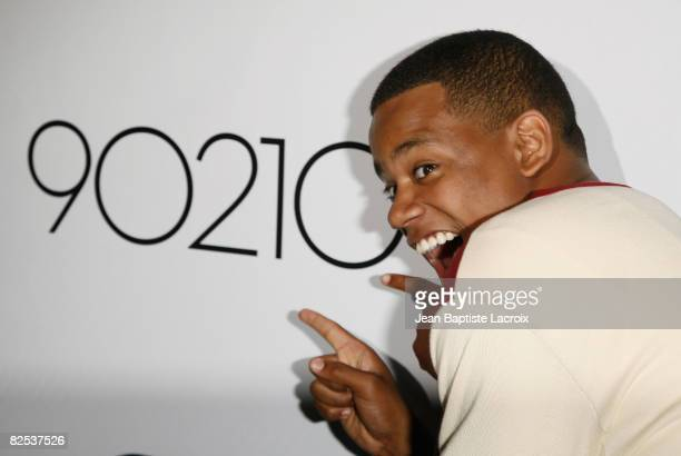 Tristan Wilds attends the CW Network's 90210 Premiere Party on August 23, 2008 in Malibu, California.
