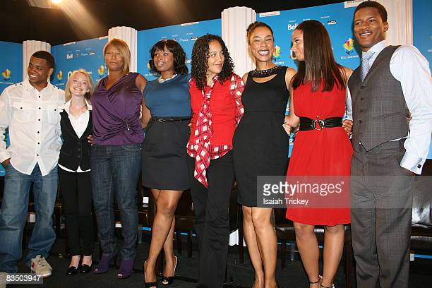 Tristan Wilds Dakota Fanning Queen Latifah Jennifer Hudson Director Gina PrinceBythewood Sophie Okonedo and Alicia Keys the cast of The Secret Life...