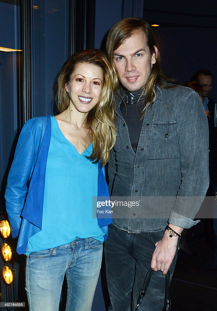 Tristane Banon and Christophe Guillarme attend The Burgundy Hotel Compilation CD Launch Party on November 26, 2013 in Paris, France.