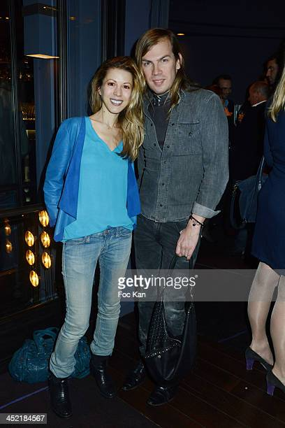 Tristane Banon and Christophe Guillarme attend The Burgundy Hotel Compilation CD Launch Party on November 26 2013 in Paris France