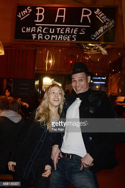 Tristane Banon and Gael Leforestier attend the Gael Leforestier and Les Monsieur Blanchet band Concert at the Comptoir du Marche on December 19 2013...