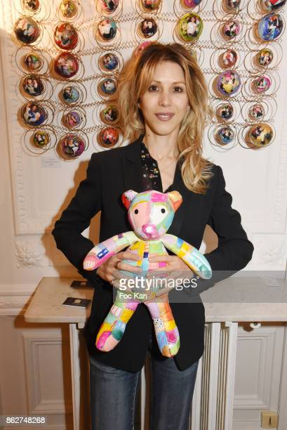 Tristane Banon attends the 'Love EtcÉ' Caroline Faindt Exhibition Preview at '28 Octobre Office' on October 17 2017 in Paris France