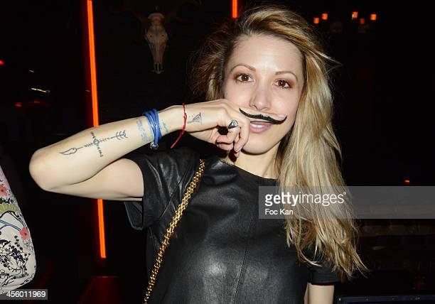 Tristane Banon attends the 'Moustache Party' At The Titty Twister Club on December 12 2013 in Paris France