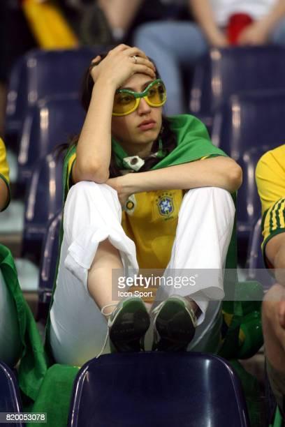 Tristesse des Supporters du BRESIL France / Bresil 1/4 Finale Coupe du Monde 2006 Francfort