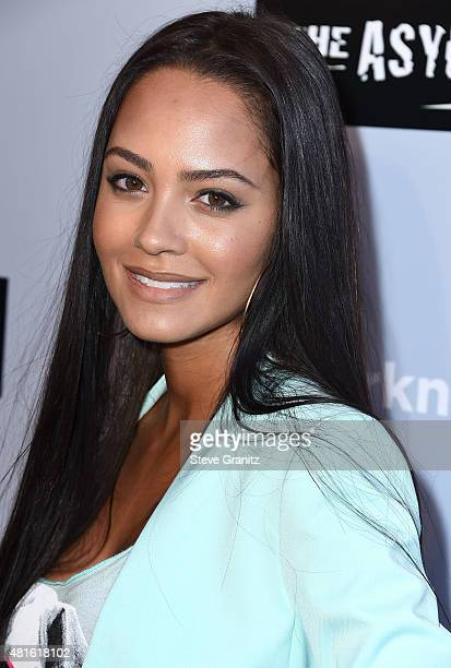 Tristin Mays arrives at the Premiere Of The Asylum's Sharknado 3 Oh Hell No at iPic Theaters on July 22 2015 in Los Angeles California
