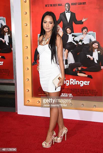 Tristin Mays attends the premiere of 'The Wedding Ringer' at TCL Chinese Theatre on January 6 2015 in Hollywood California