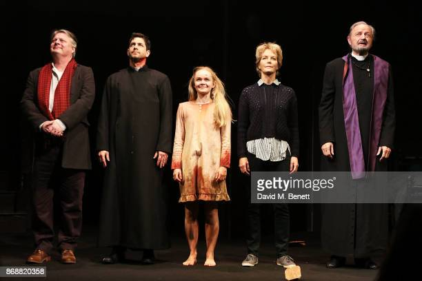 Tristram Wymark Adam Garcia Clare Louise Connolly Jenny Seagrove and Peter Bowles bows at the curtain call during the press night performance of 'The...