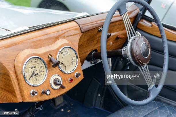 triumph 1800 roadster classic car dashboard - triumph motorcycle stock pictures, royalty-free photos & images