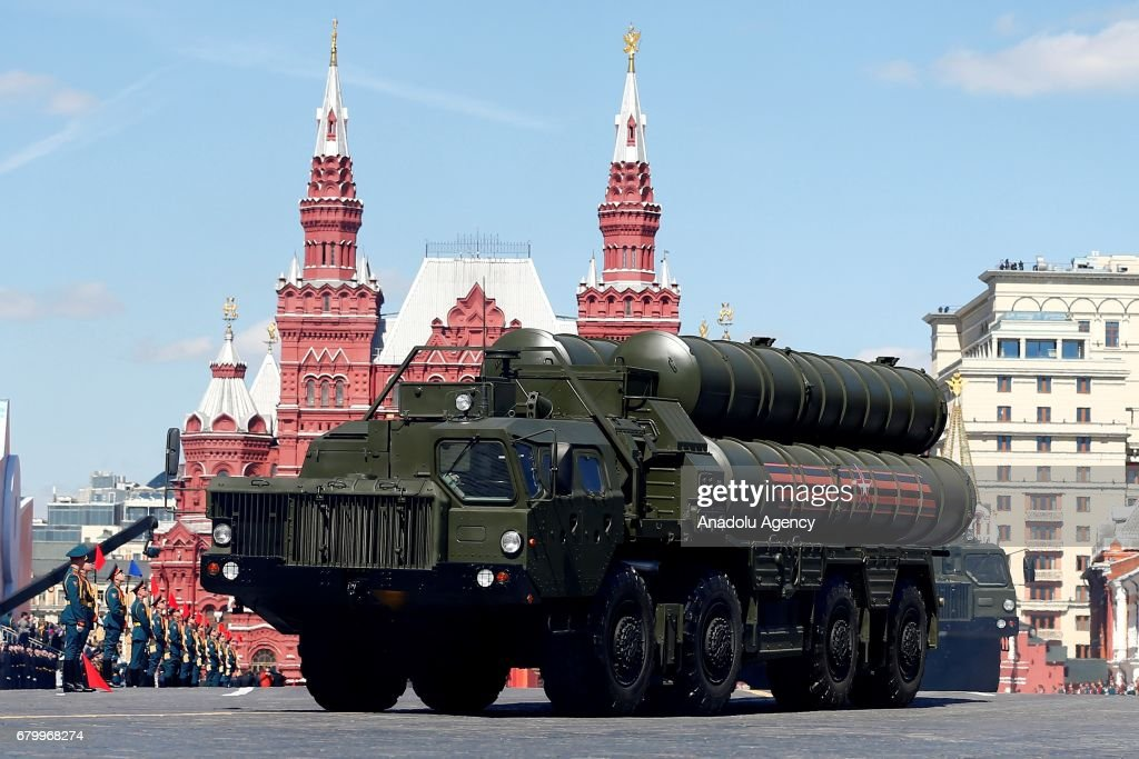 Triumph Air Defence Missile System during the rehearsal for a military parade at the Red Sqaure in Moscow, Russia, on May 7, 2017. The Victory Day parade on 09 May 2017 marks the 72th anniversary since the capitulation of Nazi Germany in World War II.