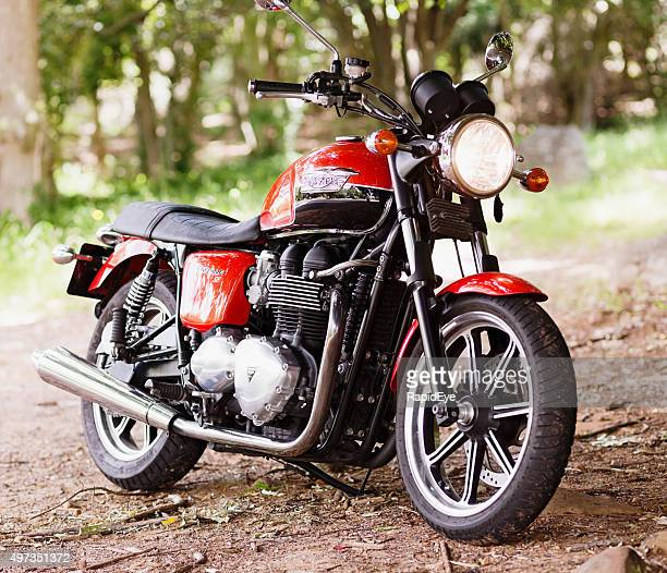 2012 triumph bonneville motorcycle - triumph motorcycle stock pictures, royalty-free photos & images