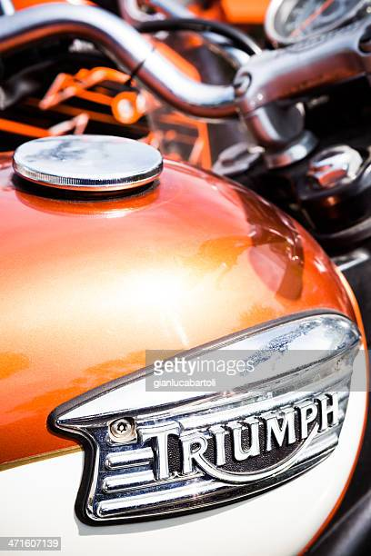 triumph detail logo - triumph motorcycle stock pictures, royalty-free photos & images