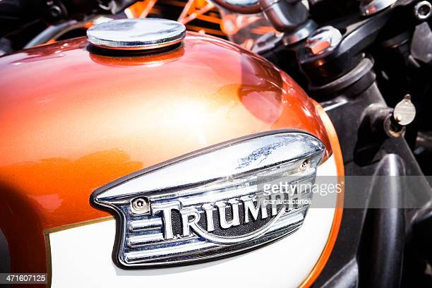 triumph detail - triumph motorcycle stock pictures, royalty-free photos & images