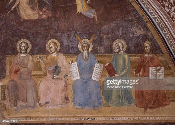 Triumph of Catholic Doctrine by Andrea di Bonaiuto 13651367 14th Century fresco Italy Tuscany Florence Church of Santa Maria Novella Spanish Chapel...