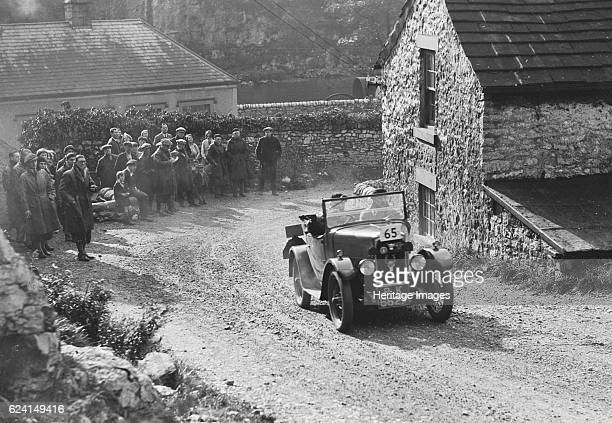 Triumph of FA Thatcher competing in the MCC Sporting Trial 1930 Artist Bill BrunellTriumph 832 cc Vehicle Reg No PK6227 Event Entry No 65 Driver...