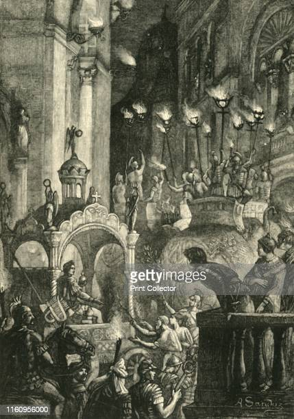 Triumph of Heraclius at Constantinople', 1890. Heraclius Emperor of the Byzantine Empire from 610 to 641 entered Constantinople in ceremonial parade...