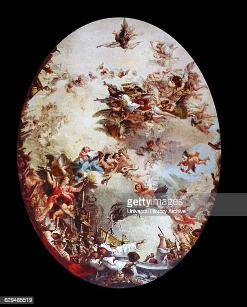Triumph of Religion About 1760 by Giovanni Battista Tiepolo Oil sketch for a ceiling fresco