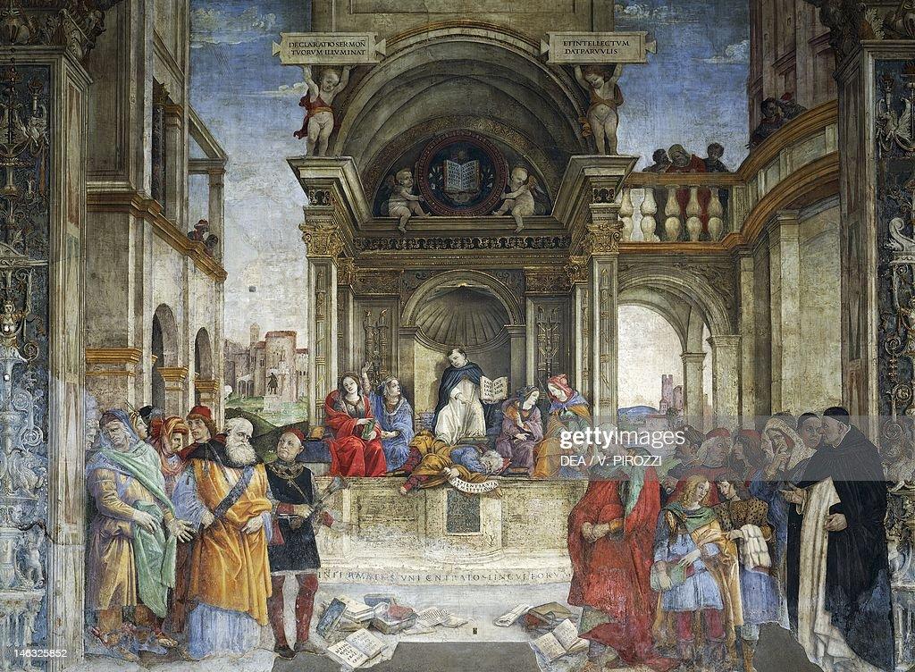 Thomas Aquinas: Triumph Of Saint Thomas Aquinas Over The Heretics, 1489