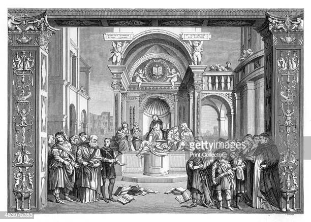 'Triumph of St Thomas Aquinas over the Heretics' 14891491 After the painting by Filippino Lippi in the collection of the Santa Maria sopra Minerva...