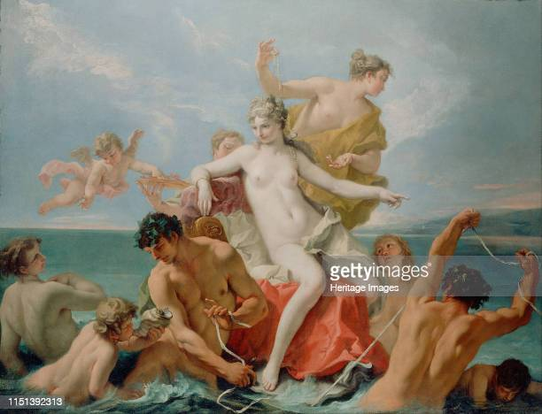 Triumph of the Marine Venus c 1713 Found in the collection of the J Paul Getty Museum Los Angeles Artist Ricci Sebastiano