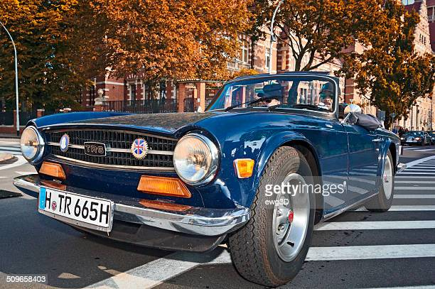 triumph tr6 convertible - triumph motorcycle stock pictures, royalty-free photos & images