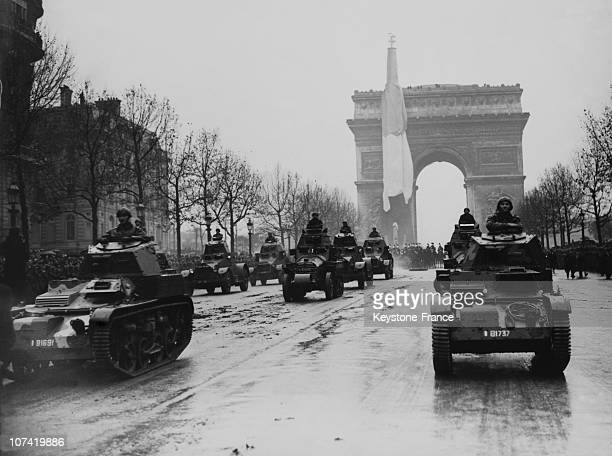 Triumphal Arch Armistice Day Celebration In Paris On November 11Th 1936
