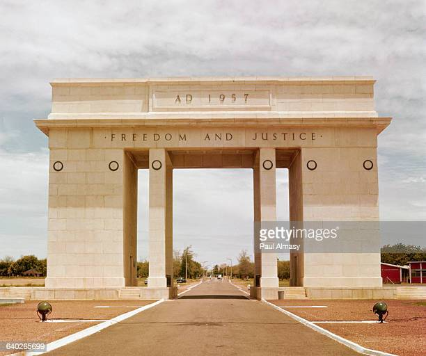 A triumphal arch in Accra Ghana commemorates the country's 1957 independence