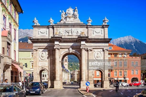 Triumphal Arch in Innsbruck Tyrol Austria