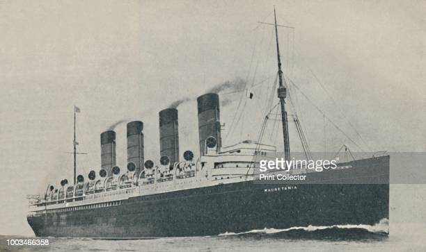 Triumphant for Twenty Years The Mauretania built in 1907' circa 1927 From Shipping Wonders of the World Vol 1 edited by Clarence Winchester [The...