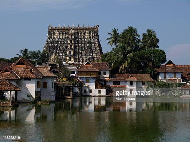 trivandrum temple,kerala,india. - temple building stock pictures, royalty-free photos & images
