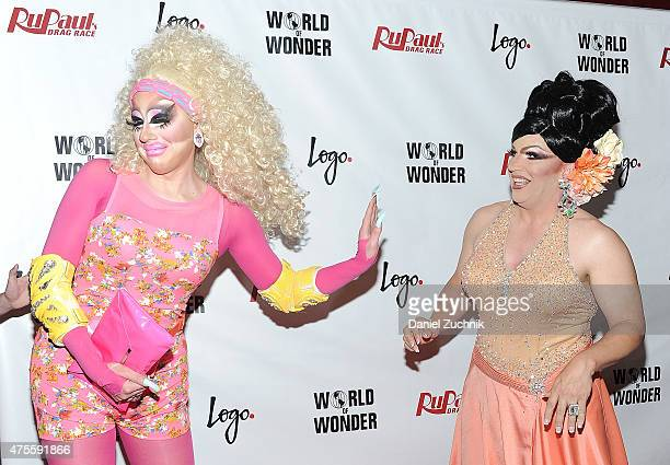 Trixie Mattel and Mrs Kasha Davis attend 'RuPaul's Drag Race' Season 7 Finale And Coronation on June 1 2015 in New York City
