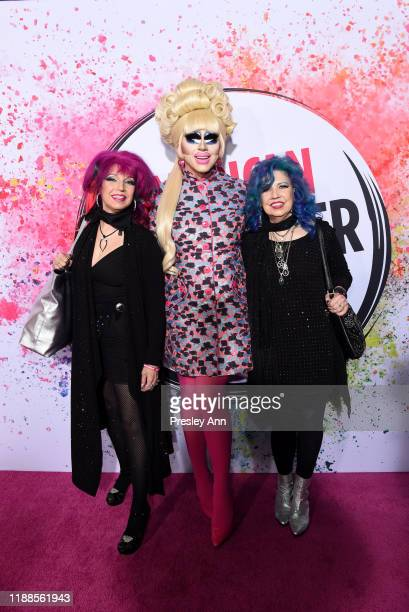 Trixie Mattel and Snookie and Trish Bellomo pose backstage during the 2nd Annual American Influencer Awards at Dolby Theatre on November 18, 2019 in...