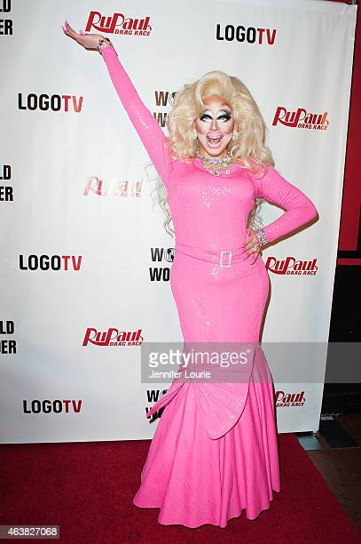 Trixie Mattel arrives at the premiere of Logo TV's 'RuPaul's Drag Race' Season 7 at The Mayan on February 18 2015 in Los Angeles California
